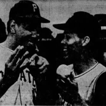 With the wind blowing out atWrigley Field' thePiratescome from 4 runs down to defeat theCubs' 13 - 6.Willie Stargellhas 3 homers and just misses a 4th when his drive bounces off thebleacherrailing for a double. Willie adds a single for 15 total bases as he drives in 7 runs.