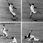 """If they ever want to rate the 10 greatest catches of all time,"" One of the top 10 catches of all time - Roberto Clemente's fantastic catch of Bob Watson's line drive in Houston's Astrodome"