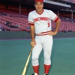 Cincinnati RedscatcherJohnny Bench, who posted a .270 average with 40 home runs and 125 RBI, wins theNational League MVP Awardfor the second time in three years.