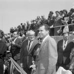 Richard Nixon becomes the first president to throw the ceremonial first pitch on Opening Day in a contest held outside of Washington, D.C.