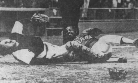 Carlton Fisk is lost for the season after home plate collison