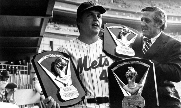 Tom Seaver of the New York Mets wins his third 1975 Cy Young Award