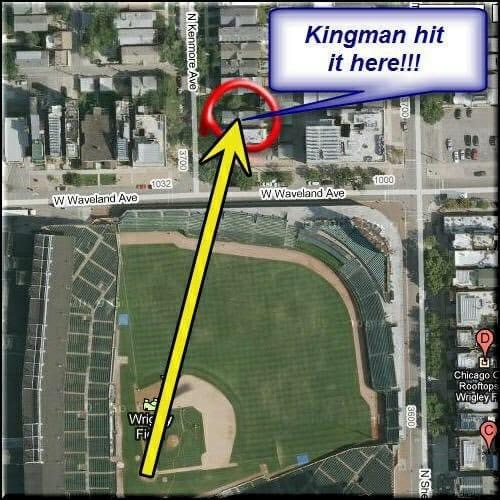 Kingman hits 600 foot blast at Wrigley Field