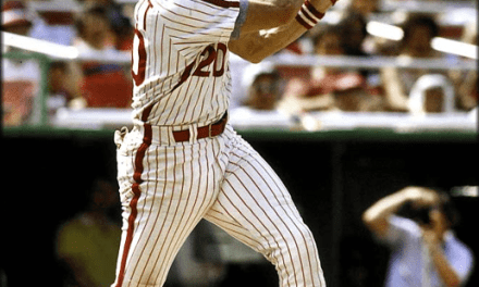 Mike Schmidt of the Philadelphia Phillies blasts four consecutive home runs in a wild 18-16 win over the Chicago Cubs