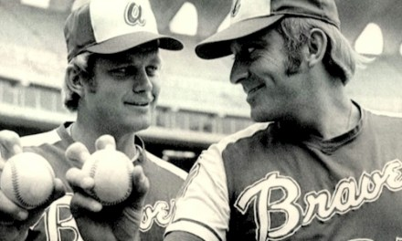 Joe Niekro takes his brother Phil deep for only homerun of his career