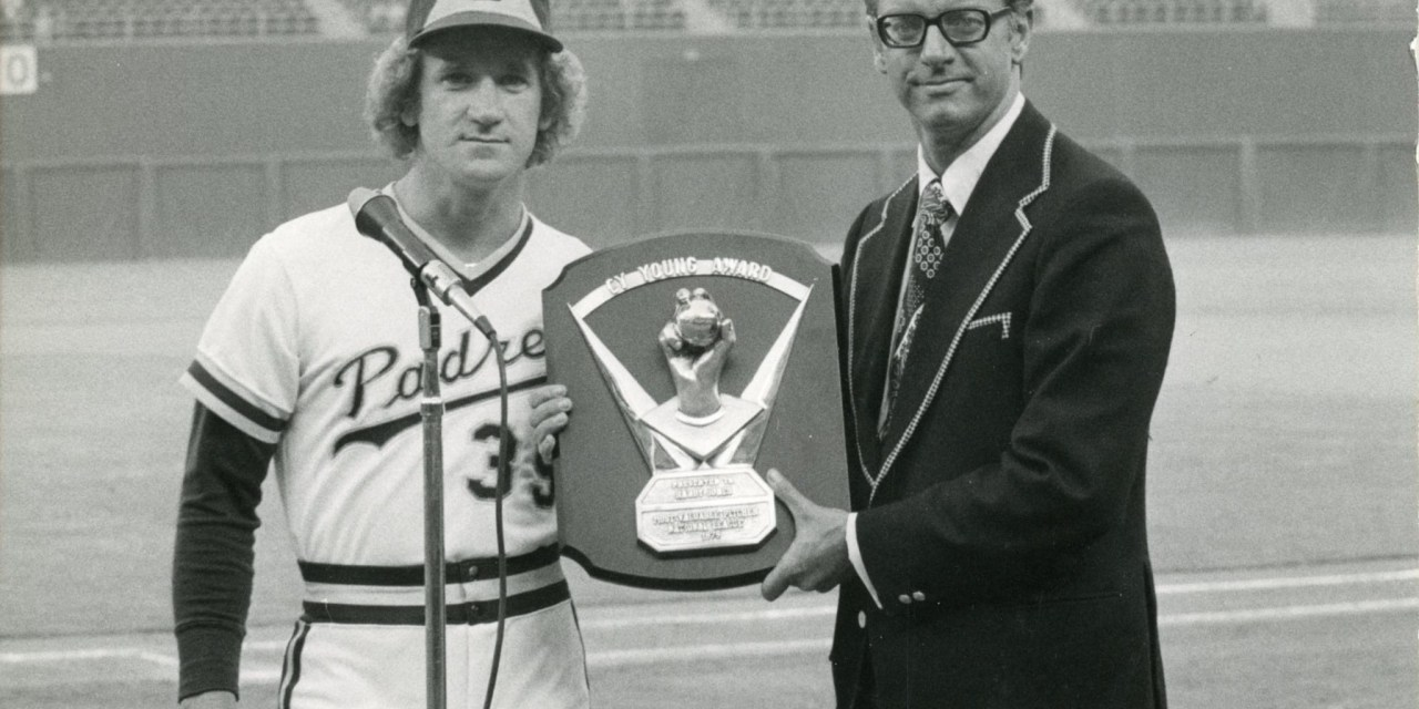 San Diego left-hander Randy Jones (22-14, 2.74) captures the National League's Cy Young Award, capturing 15 of the 24 first-place votes cast by the writers. Two seasons ago, the 26 year-old southpaw had lost 22 games for the last-place Padres.