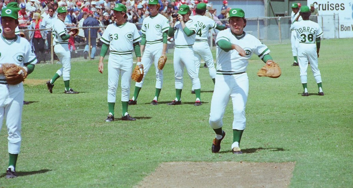 Cincinnati Reds wear special green uniforms to commemorate St. Patrick's Day