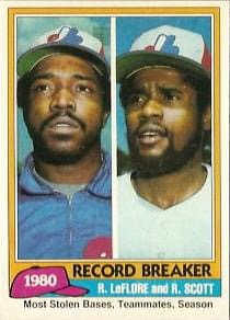 In a 6 – 5 win over the Cubs, Montreal's Ron LeFlore steals his 91st base of the season and Rodney Scott steals his 58th, breaking the major-league record for stolen bases by teammates in one season. Lou Brock and Bake McBride set the record with the 1974 Cardinals.