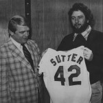 The Cubs trade reliever Bruce Sutter, the 1979 National League Cy Young Award winner to the Cardinals for 3B Ken Reitz, OF-1B Leon Durham