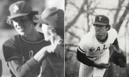 In what is billed as the greatest college pitching duel ever, in the first round of theNCAA,Yale'sRon DarlingandSt. John'sFrank Violamatch zeroes through 11 innings. Darling allows no hits while striking out 16. In the 12th, St. John'sSteve Scafahits an opposite-field scratch single, then steals second base and third base. The next batter reaches on anerrorand, when he tries to steal second, Scafa breaks for home, scoring the only run. St. John's wins, 1 – 0.