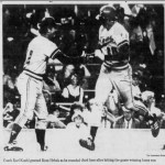 In his first major league game, first baseman Kent Hrbek hits a twelfth-inning homer, giving the Twins a 3 - 2 victory over the Yankees.