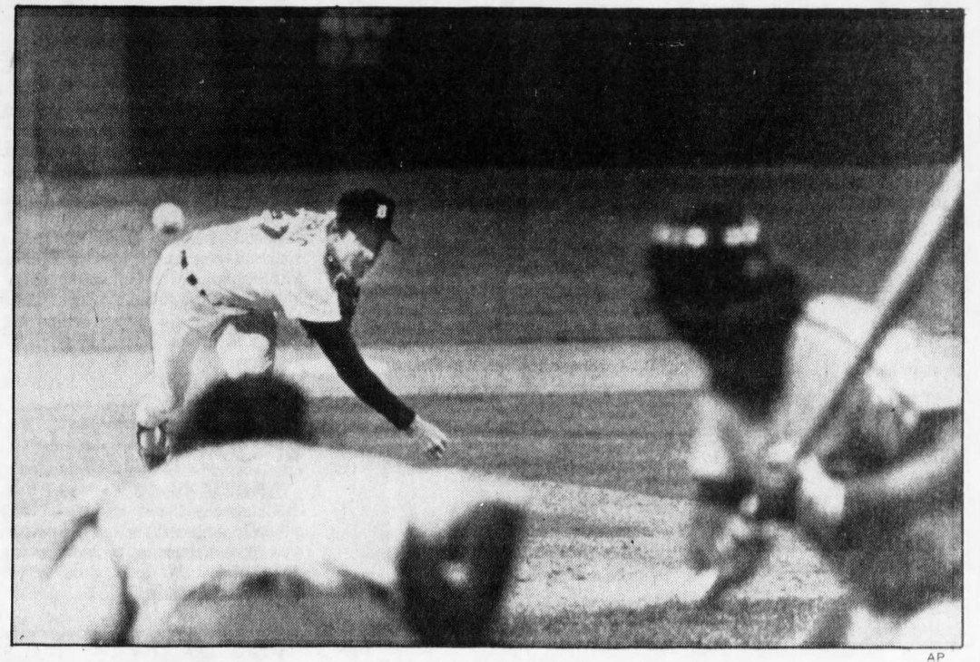 Hard to believe this will be 40 years come August 9th......  The pitch that at the time ended the longest strike in professional sports history.     Morris to Rose (Fisk catching