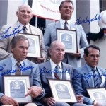 Former Dodgers Don Drysdale and Pee Wee Reese, along with Twins slugger Harmon Killebrew, American League hurler Rick Ferrell, and perennial All-Star shortstop Luis Aparicio, are inducted into the Hall of Fame.