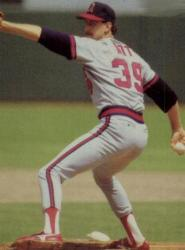 Mike Witt of the California Angels pitches a perfect game
