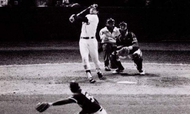 With the Tigers leading 5-4 in the eighth inning of Game 5 of the World Series, Kirk Gibson hits his second home run of the game, a three-run blast to the upper deck in right field, putting the game out of reach to give the Motor City its fourth World Championship in franchise history. Padres manager Dick Williams had ordered his pitcher to intentionally walk the Detroit right fielder, but Goose Gossage, after ignoring the walk sign at first, convinces his skipper he can get the slugger out, only to be proven wrong two pitches later.