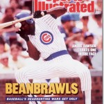 The Andre Dawson gets hit in face by Eric Show and benchs clear