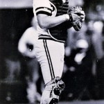 Benny Distefano of the Pittsburgh Pirates becomes the first lefthanded catcher to appear in a major league game