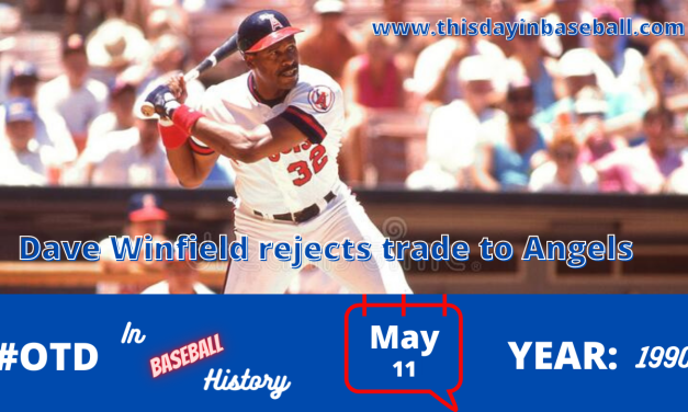 Dave Winfield rejects a trade that would have sent him from the New York Yankees to California