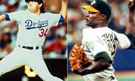 Dave Stewart and Fernando Valenzuela become first pitchers to throw no-hitters on same day