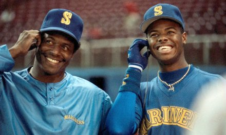 Ken Griffey Jr. and Ken Griffey Sr. become the first father and son combination to play together in a major league game