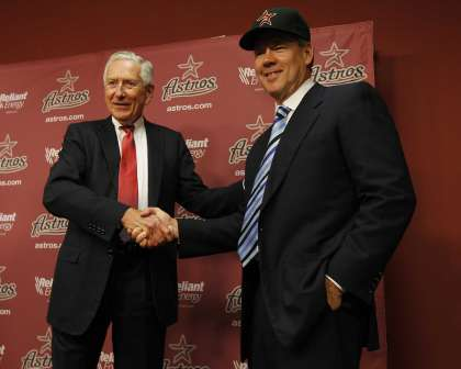 Drayton McLane, Jr. officially becomes owner of the Houston Astros, purchasing the team from John McMullen for $115 million.