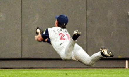 Jim Edmund's makes a sensational catch