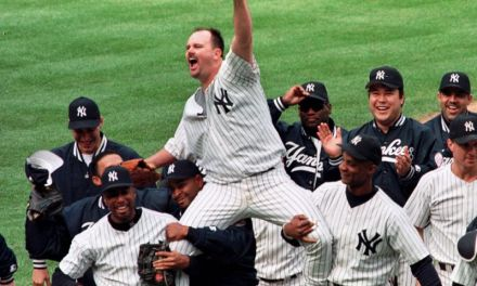 David Wells pitches the first perfect game at Yankee Stadium since Don Larsen's masterpiece