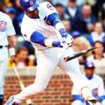 Slugger Sammy Sosa is ejected from the game during the first inning after he shatters his bat and the broken remains expose cork. The Cub outfielder will be suspended by major league baseball for eight games (reduced to 7 after an appeal) for his offense.