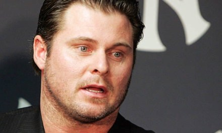 "In his first public appearance since allegations of usage of performance-enhancing drugs surfaced, New York Yankees first baseman Jason Giambi apologizes to his teammates, Yankees fans and to baseball fans everywhere for letting them down last season. The All-Star first baseman, however, never uses the word steroids as he ""accepts full responsibility for the controversy."""