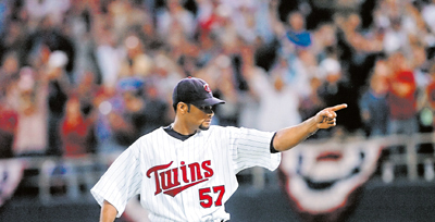 Johan Santana also sets a team strikeout record, this one for a single game, when he fans 17