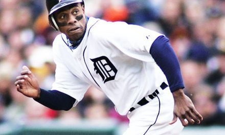 Curtis Granderson of the Detroit Tigers became just the sixth player in baseball history to hit at least 20 doubles, triples, and home runs in the same season