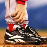 "The  ""bloody sock"" by  Schilling in Game 2 of the 2004 World Series is sold at auction for $92,613."