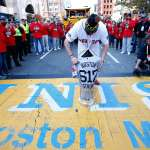 Boston Strong - Red Sox stop at Marathon Bombing Site on World Series Parade