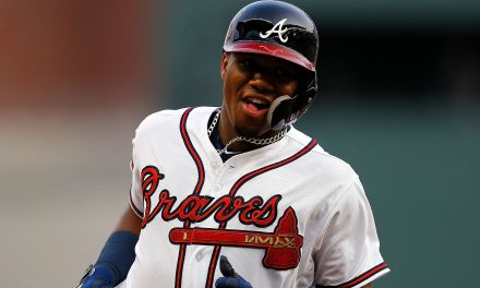 Ronald Acuna the youngest player in MLB makes his debut and singles and scores winning run