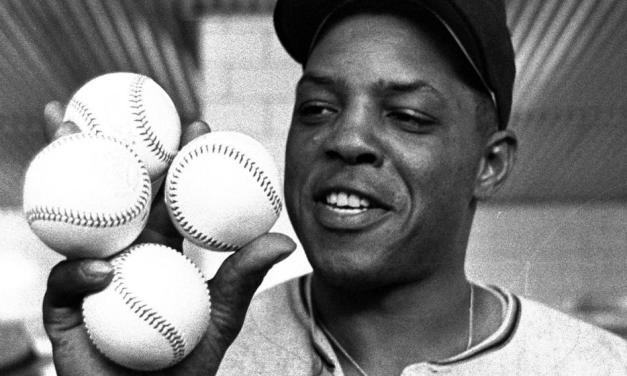 Willie Mays is inducted into the Hall of Fame in his first year of eligibility