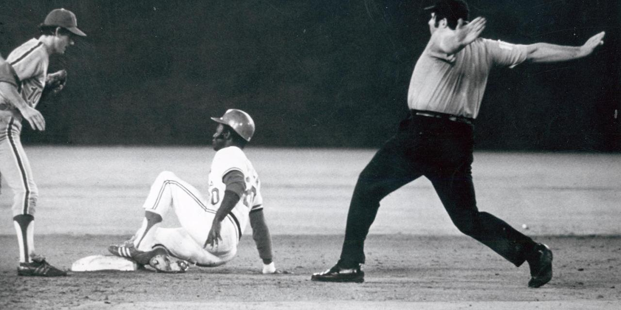 Lou Brock of the St. Louis Cardinals becomes the king of the stolen base