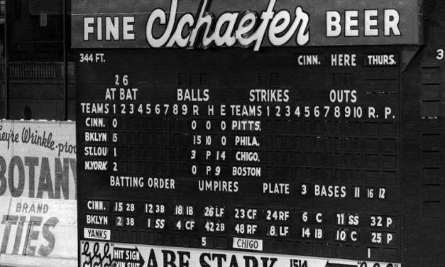 Brooklyn Dodgers and Philadelphia Phillies play the first game in the history of Ebbets Field