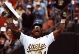 Rickey Henderson of the Oakland A's becomes the all-time leader in stolen bases