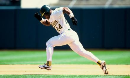 Rickey Henderson of the Oakland A's becomes the American League's all-time stolen base king