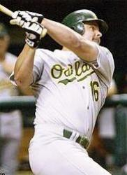Jason Giambi of the Oakland Athletics wins the American League MVP Award