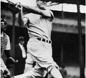 Lou Gehrig hits three home runs in the second game of a doubleheader