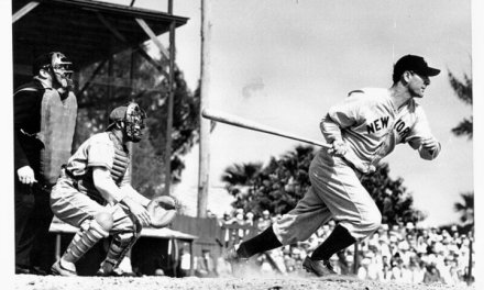 Lou Gehrig hits for the cycle as the New York Yankees pound the Chicago White Sox