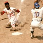 Lou Brock of the St. Louis Cardinals ties and breaks Maury Wills' single-season stolen base record