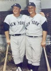 Roger Maris and Mickey Mantle hit home runs on back-to-back pitches from Curt Simmons of the St. Louis Cardinals, and Joe Pepitone belts a grand slam. New York wins, 8 – 3, at St. Louis and evens the Series.