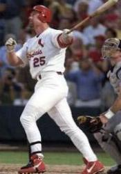 Mark McGwire of the Oakland Athletics becomes the first major league player to hit 30 or more home runs in each of his first four seasons.