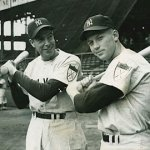 Mickey Mantle and Joe DiMaggio