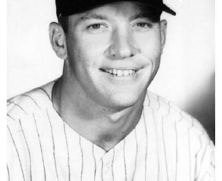 New York Yankees legend Mickey Mantle announces his retirement