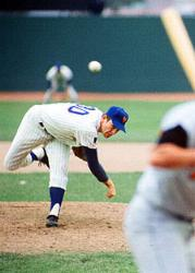 New York Mets pitcher Nolan Ryan earns the first of his 324 major league victories