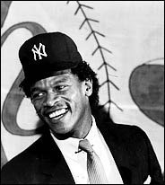 New York Yankees acquire the game's premier leadoff man Rickey Henderson