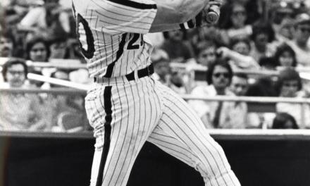 Mike Schmidt hits what may be the longest single in major league history at Astrodome